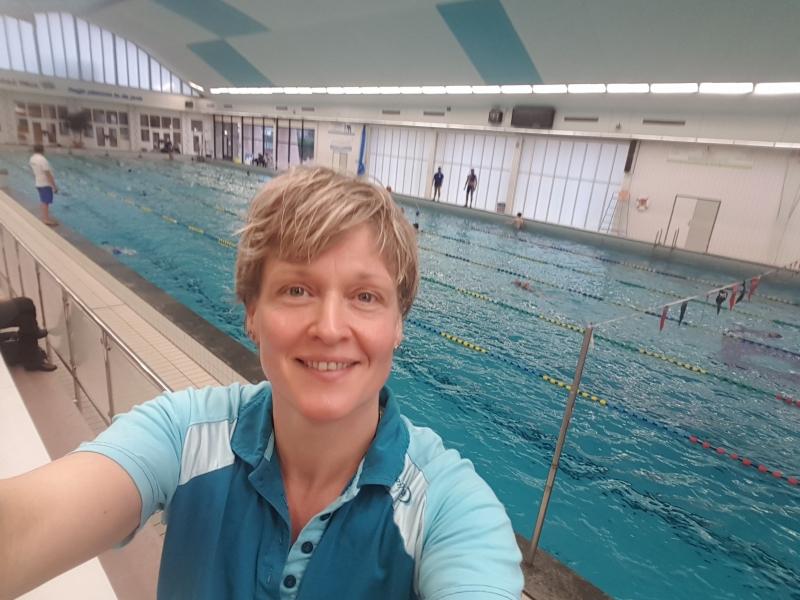 Selfie in een van de Nijmeegse zwembaden