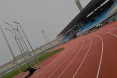 Atletiekbaan in het Olympisch stadion