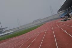 Atletiekbaan Olympisch stadion tijdens opleiding